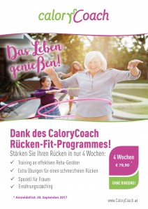 CaloryCoach Herbstkampagne 2017